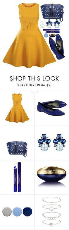 """""""Yellow and  Blue"""" by simona-altobelli ❤ liked on Polyvore featuring Cole Haan, By Terry, Guerlain, Burberry and Accessorize"""