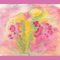 'Summer Garden' Scarf by queenokingsford Garden S, Summer Garden, Summer Flowers, Watercolor, Map, Artwork, Gifts, Watercolor Painting, Flowers