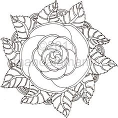 rose mandala could make a very interesting tattoo can see pinks purples