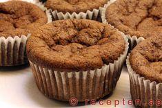 Chokladmuffins LCHF - mycket goda muffins utan vetemjöl eller strösocker! New Recipes, Low Carb Recipes, Cooking Recipes, Lchf, Sweet And Low, Candida Diet, Healthy Sweets, Healthy Food, Food Inspiration