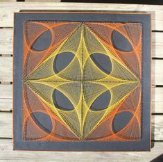 Vintage piece of string art from the 1970s by NorthernJungle