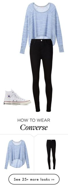 """""""Casual"""" by volleyshark on Polyvore featuring Victoria's Secret, AG Adriano Goldschmied and Converse"""