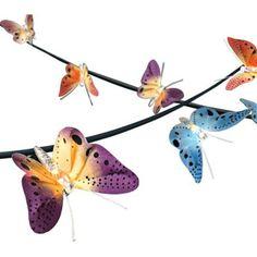 Spring Butterfly 14-Foot Fiber Optic LED String Light - #5X063 | LampsPlus.com