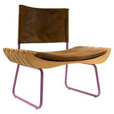 A charming addition to your home, this stunning chair adds a touch of textured style to your scheme. Featuring coloured steel legs, fabric upholstery and a varnished beech wood seat, it teams perfectly with a glass topped table to create a contrasting dining room look. www.gie-el.eu #chair #design #interiordesign #interior #furniture #furnituredesign #armchair