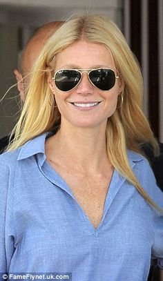 Make-up free Gwyneth Paltrow stops by her Goop pop-up store #dailymail