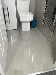 Grey Polished Porcelain Floor Tiles Bathroom Bathrooms Kitchen