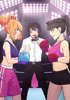 I wanna watch that fight! Osana's panda buns are aesthetic. So jealous.