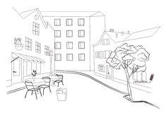 Как нарисовать город карандашом поэтапно