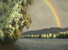 Rainbow, original oil on canvas by Lewis Bryden   R. Michelson Galleries