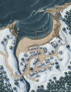Ice Port Small Preview Fantasy city map Fantasy map Fantasy world map