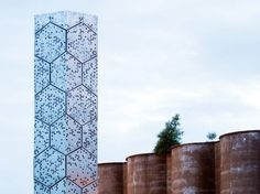 A group of architecture students in Buffalo, NY created Elevator B, a hexagon-paneled skyscraper for bees!