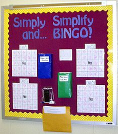 cute math game - not bulletin board