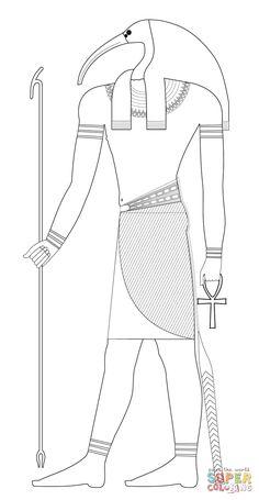 Atum Divinità Egizia Disegni Da Colorare Gratis Antico Egitto