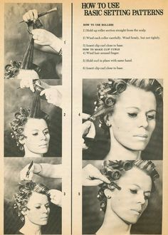 How to use Setting Patterns and vintage instructions for 1970s hair.