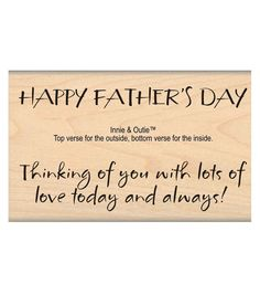 MSE My Sentiments Exactly Father's Day Mounted Stamp 2''x3.75''