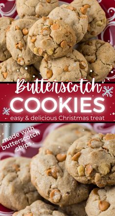 This recipe for chewy Butterscotch Cookies with pecans is delicious! Brown sugar and butter combine with butterscotch chips to give the cookies a delicate and rich taste. These are perfect for a holiday cookie exchange and sure to make your friends ask for the recipe.