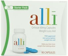 alli - The active ingredient, orlistat, blocks and enzyme that breaks down fat in the gut, preventing about 25 percent of fat calories from being absorbed. So with Alli you can lose 20 to 50 percent more weight than with diet and exercise alone.