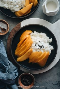 Mango sticky rice is my favorite summer dessert. The sweet gooey, nutty sticky rice is served with lucious coconut cream and sliced mango. It's so refreshing and comforting! This low-sugar version is not only easy to prepare, but also much healthier. {Gluten-Free, Vegetarian}