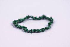 RARE GENUINE MALACHITE Healing Stone Square Chip Bracelet  #Bracelets See more! https://lalamotifs.com/product/rare-genuine-malachite-healing-stone-square-chip-bracelet/