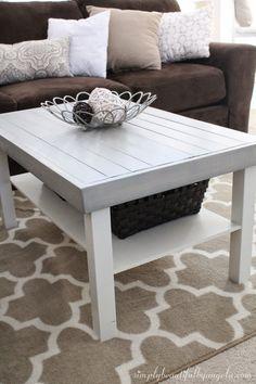Simply Beautiful by Angela: IKEA Lack Coffee Table Hack