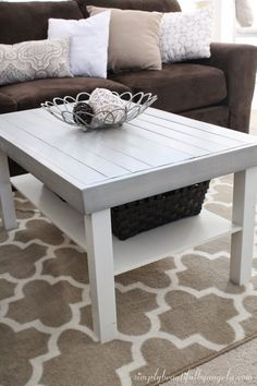 Ikea Coffee Table Hack Coffee Table Makeover Tutorial Diy Pinterest
