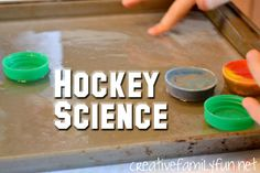 Why do different materials slide differently on ice? Find out how with this fun science experiment: Hockey Science.