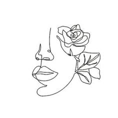 Face of a woman embroidery design-embroidery pattern of a | Etsy Embroidery Files, Machine Embroidery Designs, Embroidery Patterns, Art Sketches, Art Drawings, Art Minimaliste, Outline Art, Little Presents, Abstract Line Art