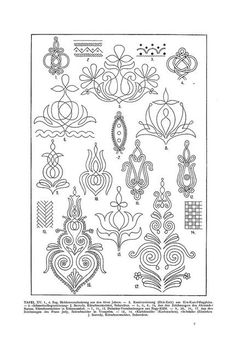 Free Clip Art and Digital Collage Sheet - Magyar Ornament Hungarian Embroidery, Folk Embroidery, Learn Embroidery, Embroidery Stitches, Soutache Pattern, Embroidery Designs, Ethnic Patterns, Motif Floral, Embroidery Techniques
