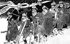 """This is how Yefimov showed """"The Invincible German Army"""" after it took a hiding in the Battle of Moscow in December 1941. Great Russian Cartoonist BORIS YEFIMOV Battle of Moscow 1941"""