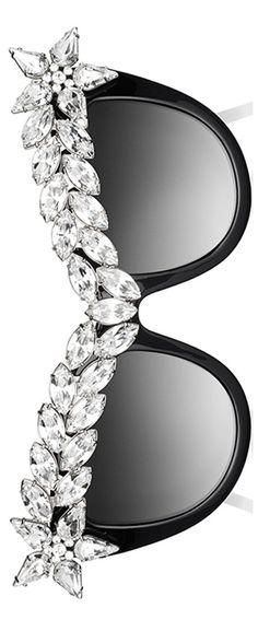 Anna-Karin Karlsson Decadence Crystal-Brow Sunglasses