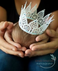 Natural LACE Baby CROWN, Baby Boy Crown, Baby Boy Photo Prop, Lace Wedding Crown, Wedding Halo, Baby Crown/Halo Photo Prop on Etsy, $14.00