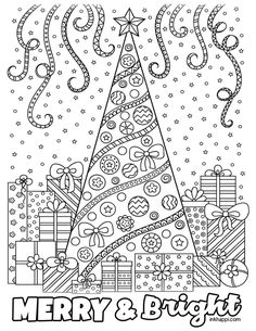 Christmas Coloring Pages and some fun Christmas jokes! Merry Christmas Coloring Pages, Christmas Coloring Sheets, Easter Coloring Pages, Christmas Doodles, Mandala Coloring Pages, Christmas Drawing, Coloring Book Pages, Coloring Pages For Kids, Colouring Pics
