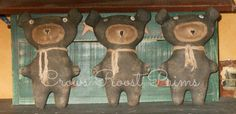 This is for 1 Black Bear  Wilma is approx. 10 inches tall and 7 inches wide (ears). She has button eyes: sewn & stuffed muzzle and her nose and