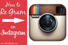 How to re-gram Instagram images http://www.thesitsgirls.com/social-media/regram-images/ Re-share images with your followers