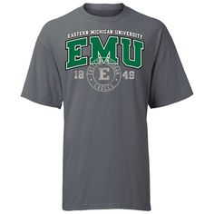 EMU Eastern Michigan Circle Stamp Tee At Campus Den