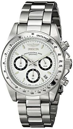 Invicta Mens 9211 Speedway Collection Stainless Steel Chronograph Watch with Link Bracelet -- Learn more by visiting the image link. (Note:Amazon affiliate link)