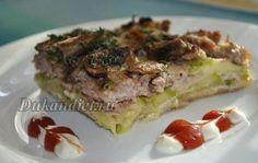 Кабачковый пирог с мясом и грибами | Диета Дюкана