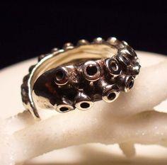 Black Diamond OctopusMe Tentacle Ring  on Etsy, Sold