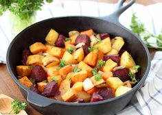 Easy Oven Roasted Root Vegetables are a healthy and delicious side dish. Easy and colorful vegetable side dish. Perfect for for any meal. Vegan, vegetarian, real food for Easter Thanksgiving, Christmas, and more!