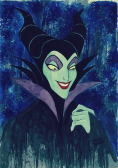 Maleficent Watercolor and Nankin | by DCNAUTA. Disney Villains