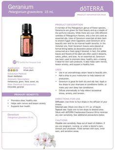 Geranium. For your Essential Oil Needs visit www.mydoterra.com/goodmanamber