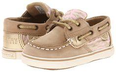 Sperry Kids - Bluefish Crib (Infant/Toddler) (Linen/Pink Zebra) - Footwear $32.00
