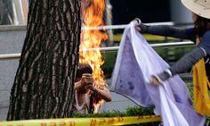 Anciano se inmola frente a la embajada de Japón en Seúl