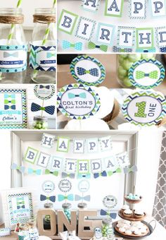 Bow Tie First Birthday Party Decorations Package in Lime Green, Navy, Turquoise, and gray This listing is for the printable pdf files that allow you to choose the items you want to print and the quantity of each. This listing is for a pdf downloadable file. No items will be mailed to you. You can print from home or send the file to a printing company (Staples, Office Max, etc.) *****ORDERING***** Please provide the NAME of the child (in the notes box while checking out) so we can customize…