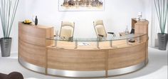 Half Moon Reception http://vaughanofficefurniture.com Call us for great deals! 905-669-0112 #office #reception #Toronto #Canada