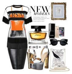 """Modern Queen"" by crownedperfection on Polyvore featuring BKE core, Versace, Giuseppe Zanotti, Anya Hindmarch, Dolce&Gabbana, Chanel, modern, women's clothing, women and female"
