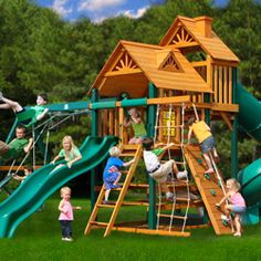 Small Yard Play Structures Swing Set Rainbow Systems