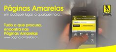Páginas Amarelas Em qualquer lugar, a qualquer hora ... www.paginasamarelas.cv