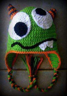 Gorro de mounstro a crochet