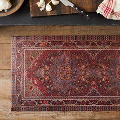 Vintage-Inspired Persian Vinyl Runners on Food52 Persian Pattern, Persian Motifs, Persian Rug, Floor Runners, Black Chalkboard, Home Rugs, Food 52, Vinyl Flooring, Vintage Industrial